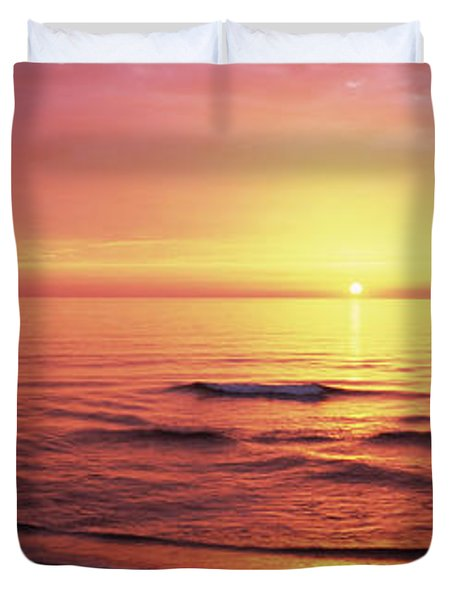 Sunset Over The Sea, Venice Beach Duvet Cover