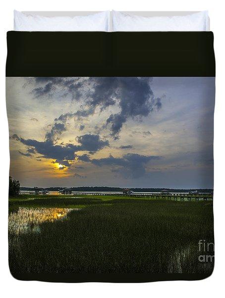 Sunset Over The Wando Duvet Cover
