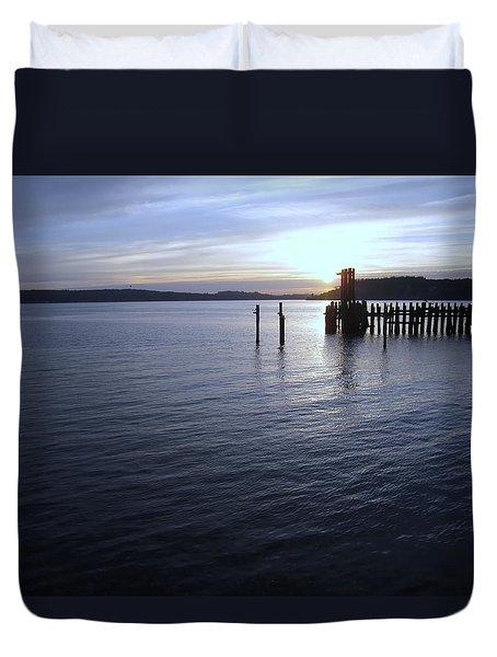 Sunset Over Titlow Duvet Cover by John Rossman