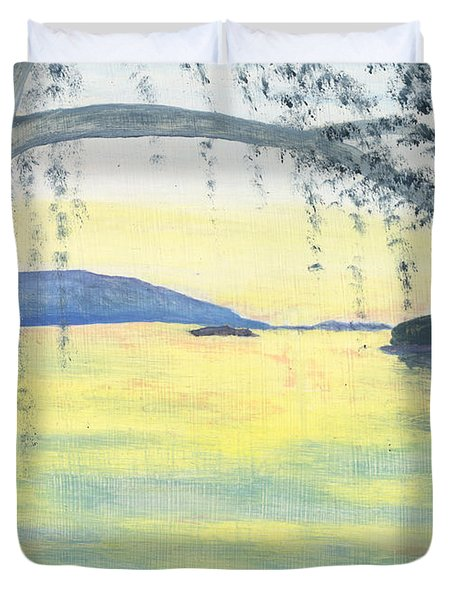 Sunset Over Water Duvet Cover