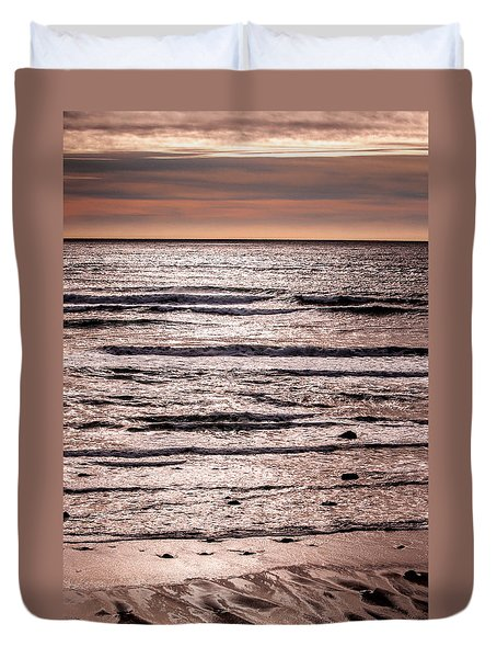 Sunset Ocean Duvet Cover by Roxy Hurtubise