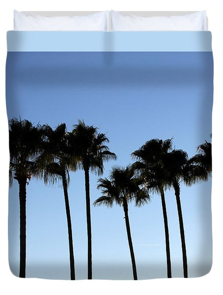 Sunset Palms Duvet Cover by Chris Thomas