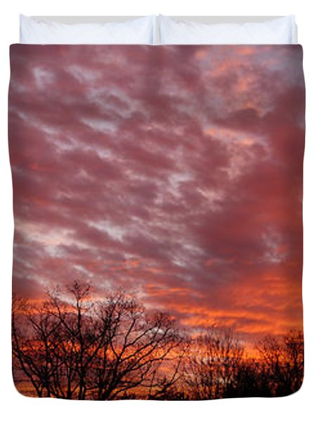 Sunset Panorama Duvet Cover