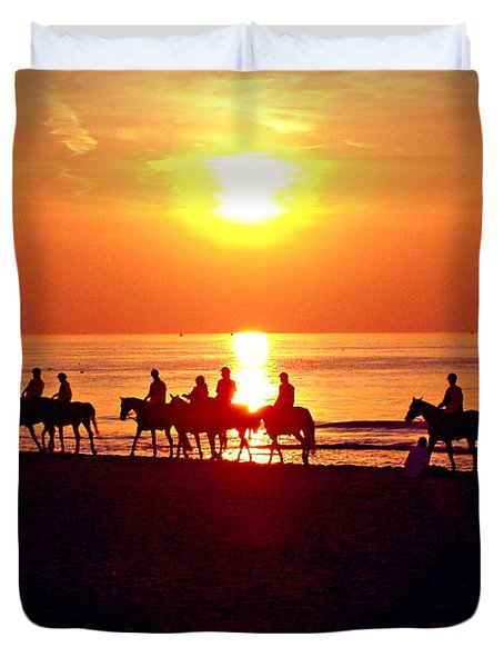 Sunset Past Time Duvet Cover by Nina Ficur Feenan