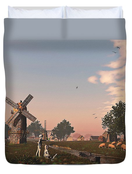 Sunset Play Duvet Cover