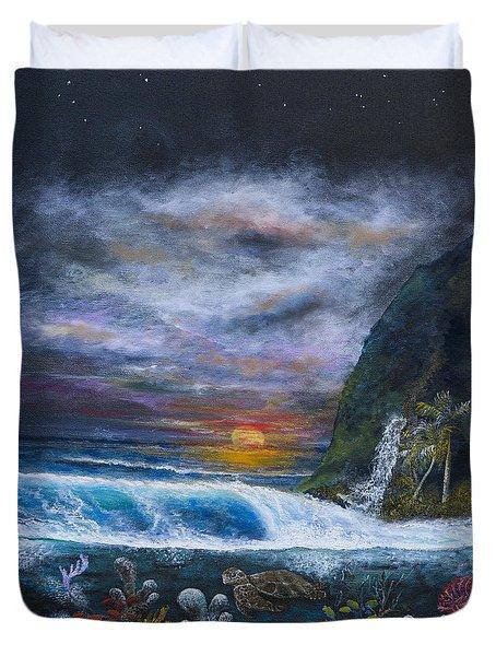 Sunset Reef Duvet Cover by John Garland  Tyson