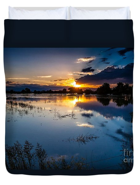 Sunset Reflections Duvet Cover by Steven Reed