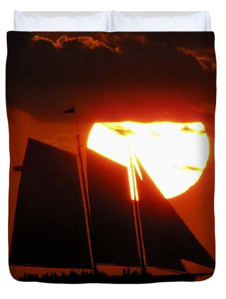 Key West Sunset Sail 5 Duvet Cover