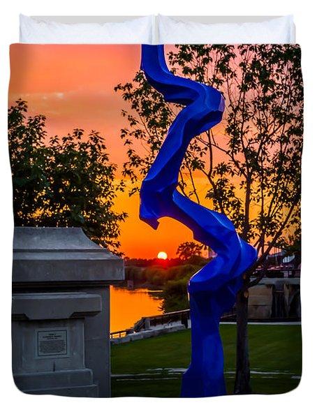 Sunset Sculpture Duvet Cover