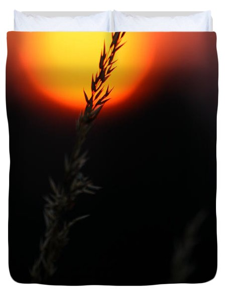 Sunset Seed Silhouette Duvet Cover
