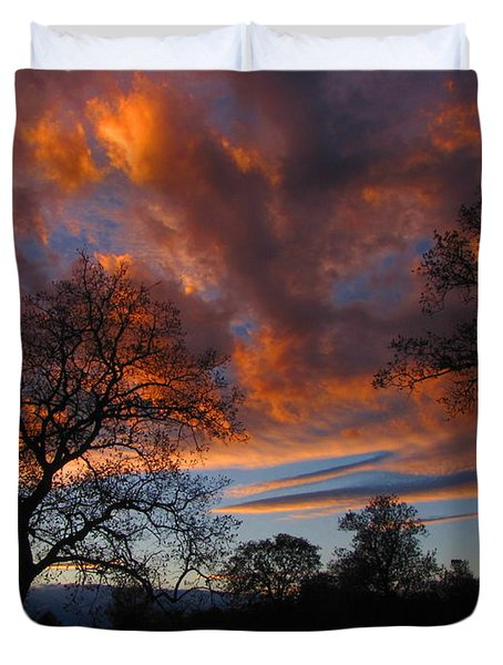Sunset September 24 2013 Duvet Cover by Joyce Dickens