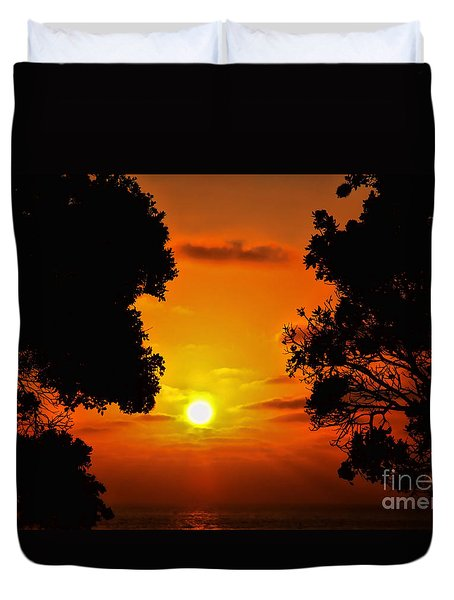 Sunset Silhouette By Diana Sainz Duvet Cover by Diana Sainz