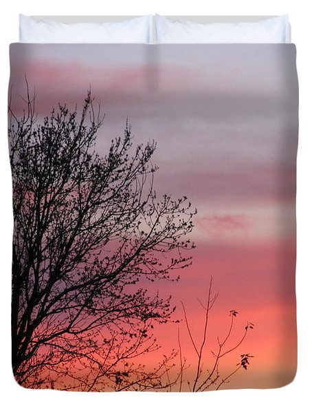 Sunset Silhouette Duvet Cover by Ellen Meakin