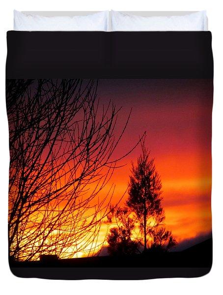Sunset Sky . Duvet Cover by Joyce Woodhouse