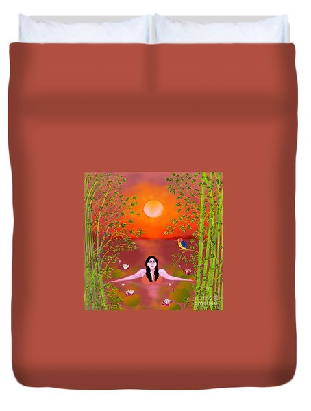 Sunset Songs Duvet Cover by Latha Gokuldas Panicker