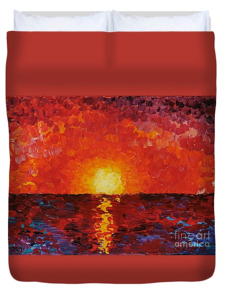 Sunset Duvet Cover by Teresa Wegrzyn
