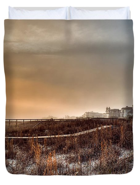 Sunset Through The Fog Duvet Cover