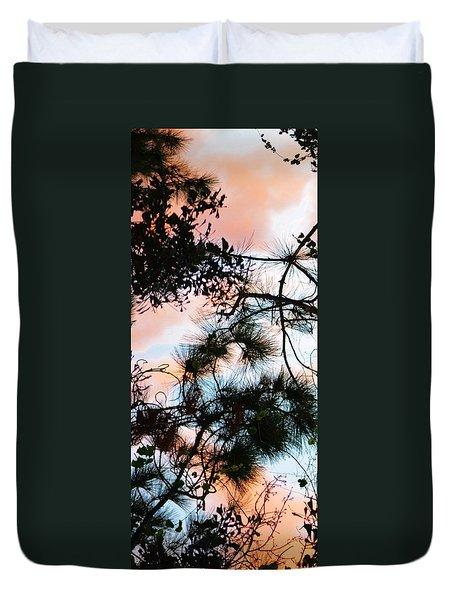 Sunset Through The Trees Duvet Cover