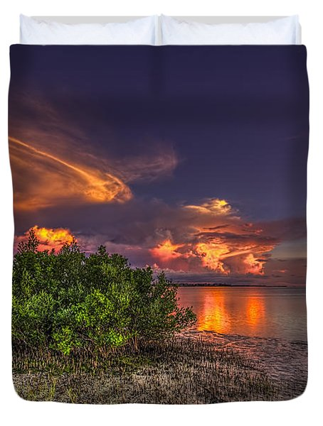 Sunset Thunder Storms Duvet Cover