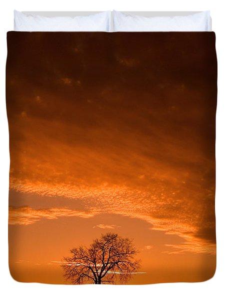 Sunset Tree Duvet Cover