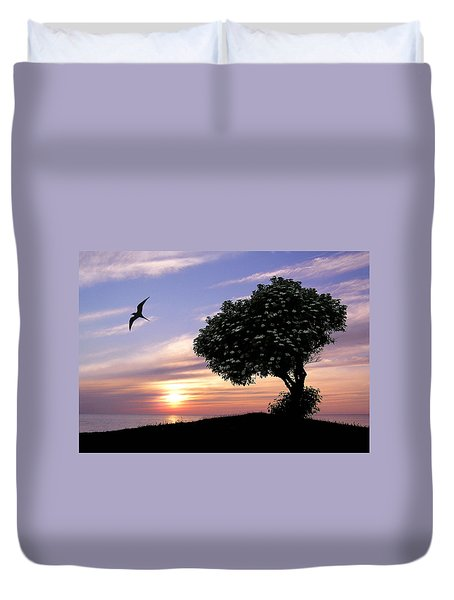 Sunset Tree Of Tranquility Duvet Cover