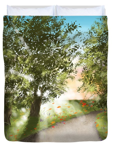 Sunset Duvet Cover by Veronica Minozzi