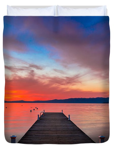 Sunset Walkway Duvet Cover