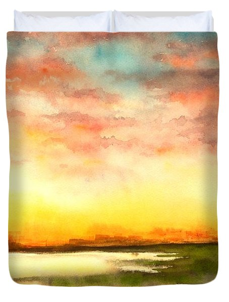Sunset Duvet Cover by Yoshiko Mishina