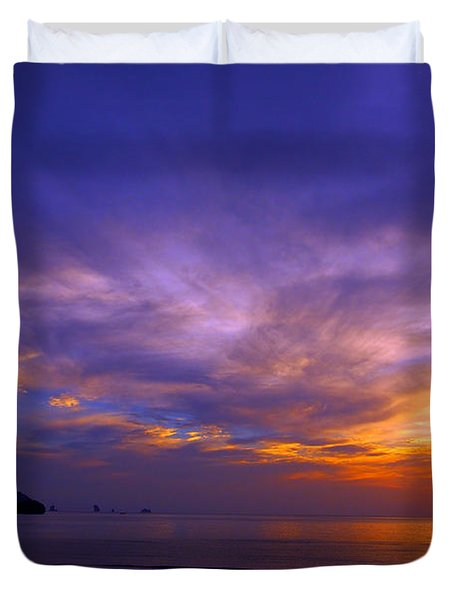 Sunsets And Beaches Duvet Cover by Kaleidoscopik Photography