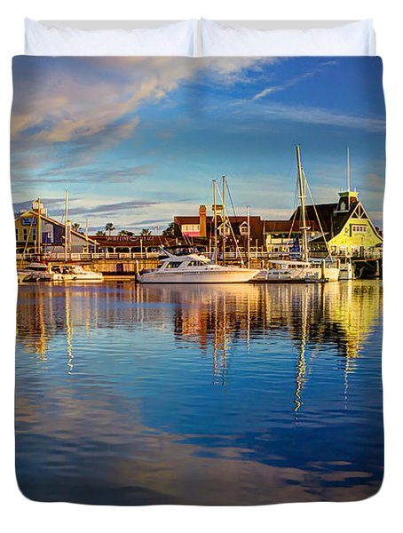 Sunset's Golden Light Duvet Cover by Heidi Smith