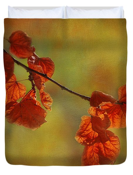 Sunshine And Red  Duvet Cover by Ivelina G