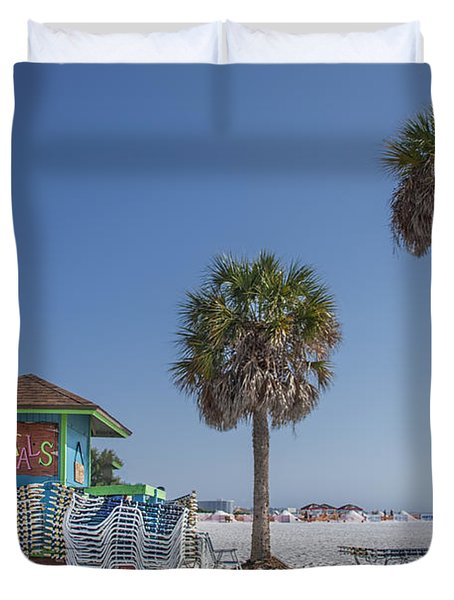 Sunshine Beach Duvet Cover