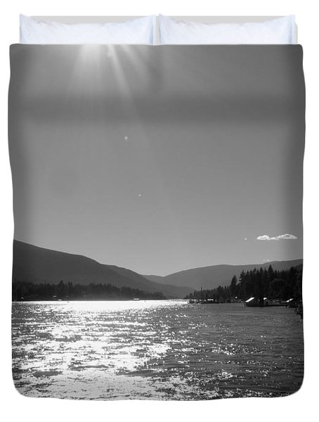 Sunshine Beams Duvet Cover by Leone Lund