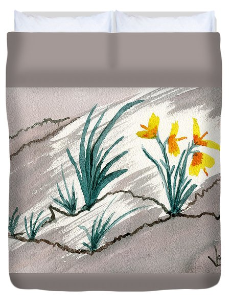 Sunshine From Darkness Duvet Cover