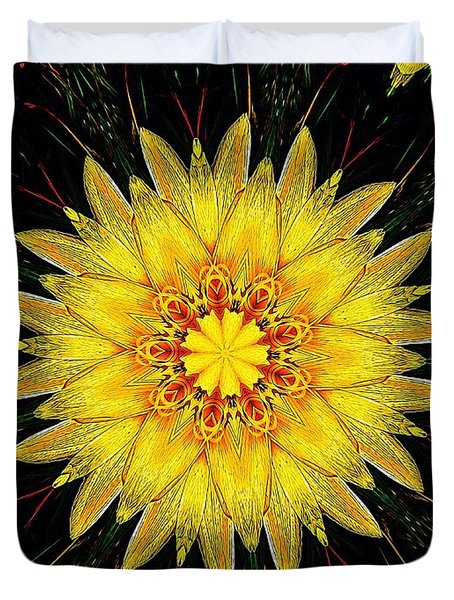 Sunshine Lily Duvet Cover