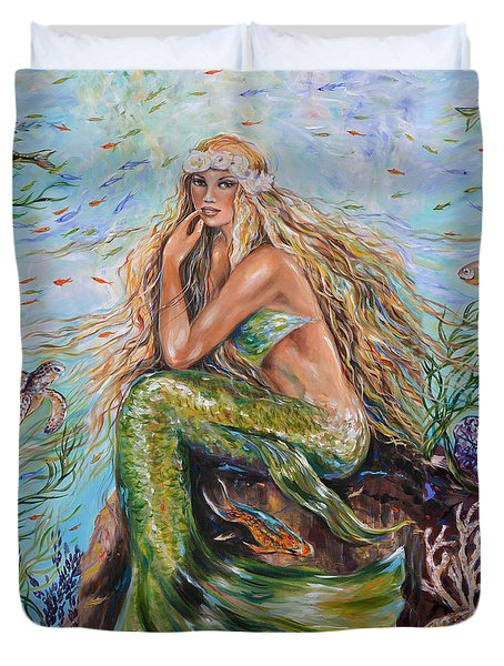 Sunshine Mermaid Square Duvet Cover