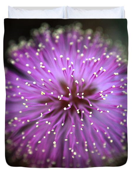 Duvet Cover featuring the photograph Sunshine Mimosa by Greg Allore
