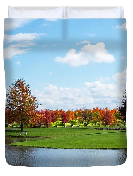 Sunshine On A Country Estate Duvet Cover by Barbara McMahon