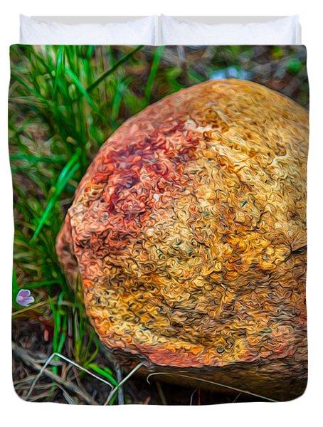 Sunshine Rock Duvet Cover by Omaste Witkowski