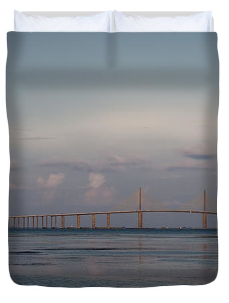 Sunshine Skyway Bridge Duvet Cover