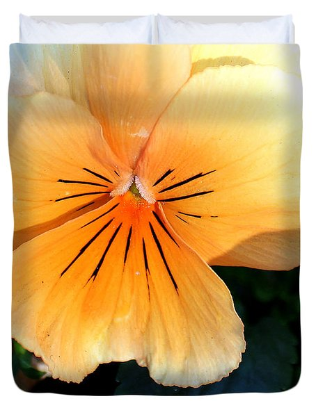 Sunshine Yellow Pansy Duvet Cover
