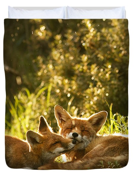 Sunshower Duvet Cover by Roeselien Raimond