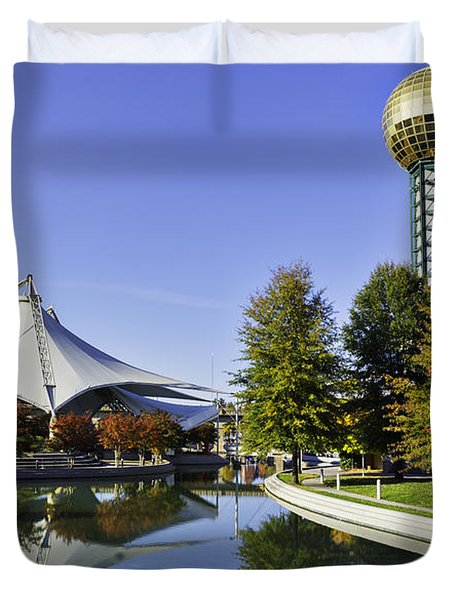 Sunsphere In The Fall Duvet Cover