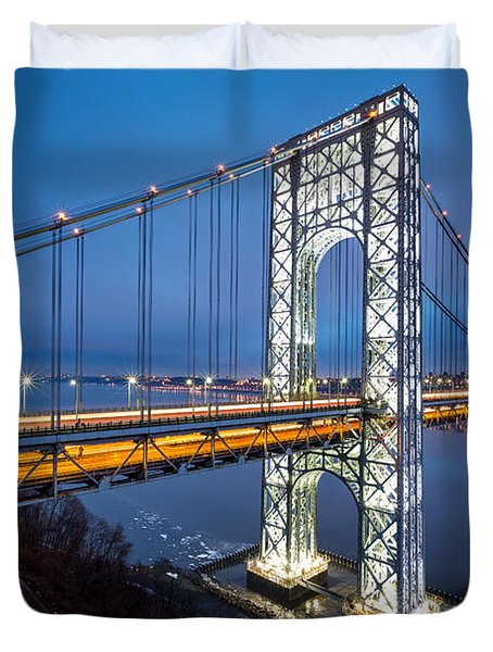 Super Bowl Gwb Duvet Cover by Mihai Andritoiu