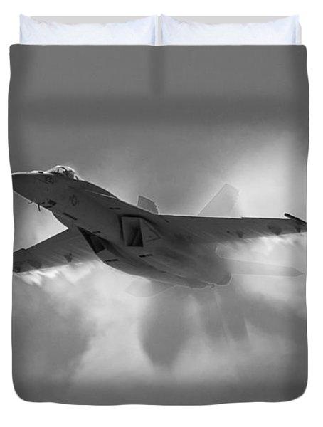 Super Hornet Shockwave Bw Duvet Cover