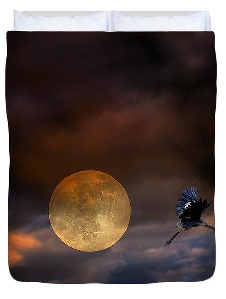 Super Moon 2013 Duvet Cover by Angela A Stanton