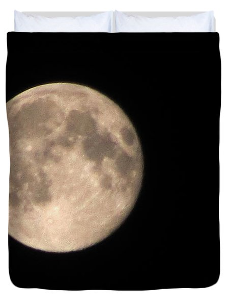 Duvet Cover featuring the photograph Super Moon by David Millenheft