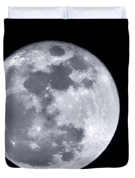 Super Moon Over Arizona  Duvet Cover