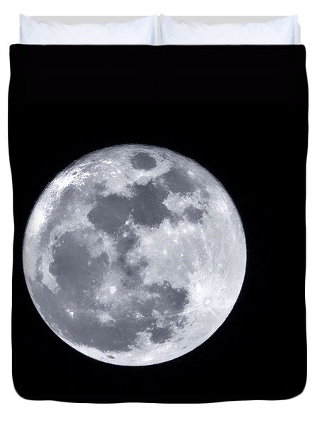 Super Moon Over Arizona  Duvet Cover by Saija  Lehtonen