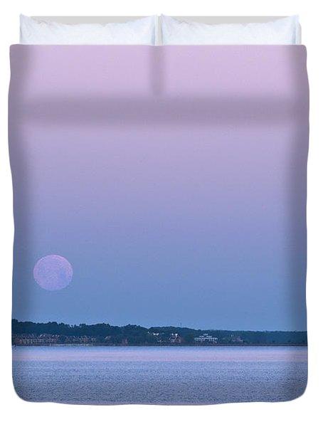 Super Moon Setting-1 Duvet Cover